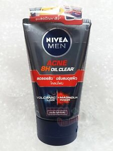 NIVEA MEN ANTI ACNE OIL FIGHTER MUD FOAM Wash Very Oily and Sensitive Skin 100g