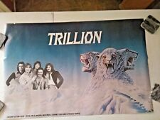 1979 ORIGINAL PROMO POSTER FOR TRILLION CBS 24 X 36 DEBUT ALBUM VERY RARE
