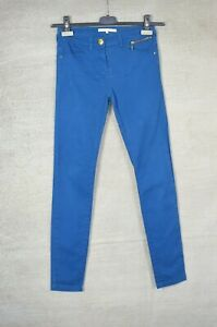 RIVER ISLAND Bold blue skinny fit jeans UK 6 L30