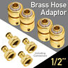 Brass Garden lawn Water Hose pipe fitting Connector tap adaptor 12mm x 4 SET
