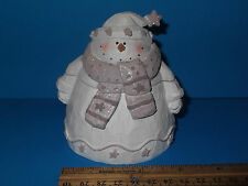 """Snowman Trinket Box 3 1/2"""" by Youngs Inc, NEW in Open Box"""