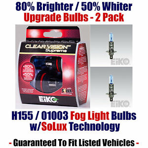 2-Pack Upgrade Fog Light Bulbs - 80% Brighter 50% Whiter EiKO 01003 / H155 CVSU2