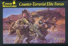 Caesar Miniatures 1/72 082 US Counter-Terrorist Elite Forces x 10 Boxes (LOTS)