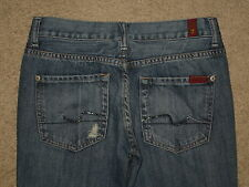7 For All Mankind Size 27 Destroyed Flare Low Rise Womens Jeans