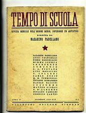 TEMPO DI SCUOLA#Mensile Ord. Medio/Superiore/Artistico-Anno II-N.2#Dicembre 1940