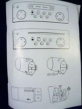 Renault Gamme Radiosat unidad principal radio Audio Libro De Instrucciones Manual De Operación