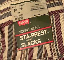 """NOS Stripe Levi's Jeans 30""""x36"""""""