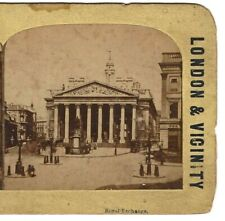 The Royal Exchange, London, England, Circa 1880's Stereoview