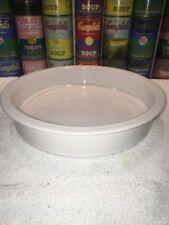 """Vintage Hoganas Keramik Sweden 10"""" round White Baking Pie Quiche Dish Swedish"""