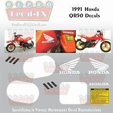 1991 Honda QR50 Decal Set Motocross Motorcycle Reproduction 8 Pc Vinyl Stickers