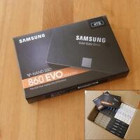 """New 4TB Samsung 860 EVO 2.5"""" Solid State Drive SATA MZ-76E4T0B/AM SSD 7mm"""