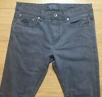 Superdry copper denim classics corporal slim mens dark grey jeans size w34L32