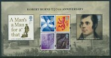 2009 GB ROBERT BURNS ANNIVERSARY MINI SHEET FINE MINT MNH SG MS S157