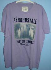Men's 2XL Aeropostale Surf Boards Cotton Crew T Shirt Lavender Purple XXL
