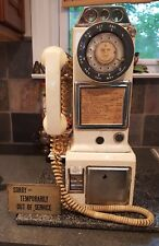 1960's 3 Slot Coin Operated Rotary Dial Wall Pay Phone NE-Canada