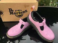 Dr Martens Dulice pink Pebble lamper t-bar shoes junior UK 10 EU 28 BNIB RRP 55