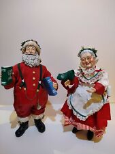 Mr. and Mrs.Santa Claus Figurine Midwest Importers of Cannon Falls Hand Made