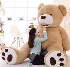 "4.5Ft  XL 53"" Large Teddy Bear Plush Toy Light Beige Brown Giant Stuffed Animal"
