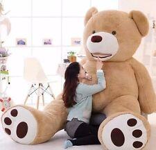 "4.5Ft  XL 53"" Large Teddy Bear Plush Toy Light Beige Brown Giant Stuffed Animal"