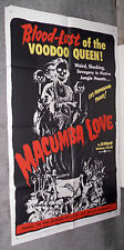 MACUMBA LOVE original VOODOO movie poster JUNE WILKINSON 1960 one sheet 27x41