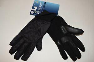 NWT Isotoner Signature Women's Sleek Heat Gloves Black
