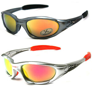 2 Pair Combo X-Loop Sport Cycling Fishing Golfing Wrap Sunglasses Red Fire Lens