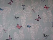 "SANDERSON CURTAIN FABRIC DESIGN ""Wisteria & Butterfly"" 1.6 METRES SEASPRAY/MULTI"