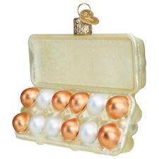 Old World Christmas Egg Carton (32433)N Glass Ornament w/ Owc Box