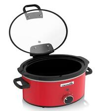 Crock-Pot CSC037 3.5L Red Hinged Lid Slow Cooker 220-240 Volts 50Hz Export Only