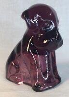 Degenhart Art Glass Pooch Dog Amethyst