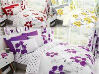 Flower Poppy Duvet Set Single Double King Superking Duvet Cover Quilt Cover Set