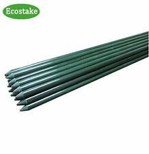 "12x EcoStake Plant/Garden /Tomato/Training Stakes 3/4""x8Ft Dark Green"