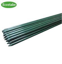 20x EcoStake Plant/Garden /Tomato/Training Stakes1/4'' X 60'' Green Never Rust