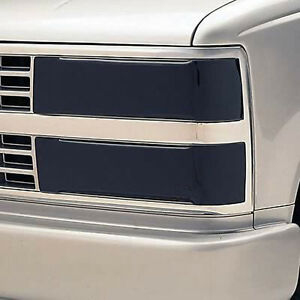 Fits 94-99 CK Truck Suburban Tahoe GTS Smoke Acrylic Headlight Covers GT0171S