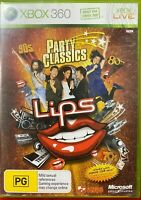 Xbox 360 Lips Party Classics 80s 90s Manual Included