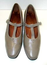 Women's Footthrills Taupe T-Strap Low Heel Casula Comfortable Loafers Size 11 M
