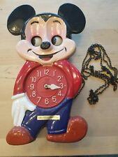 Vintage MI-KEN PET Mickey Mouse Clock - Walt Disney productions parts or Repair