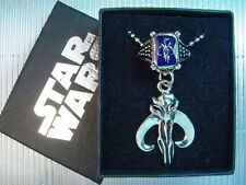 Star Wars Boba Fett Bounty Hunter Bantha Skull Necklace Ring Set