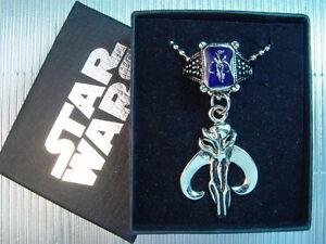 Star Wars Boba Fett Bounty Hunter Bantha Skull Necklace Ring Set