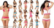 X1 WHOLESALE LOT Sexy 500 Pcs EXOTIC BIKINI CLUB WEAR DANCER Lingerie RAVE S M L