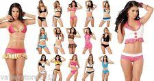 X1 WHOLESALE LOT Sexy 500 Pcs EXOTIC BIKINI CLUB WEAR DANCER Lingerie RAVE S M L