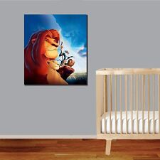50×55×3cm Lion King Canvas Prints Giclee Framed Wall Art Kids Nursery Decor DIY