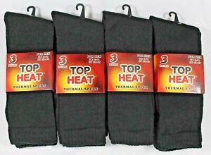 Mens Plain Black Thermal Socks Cotton Midcalf Outdoor Boot Sock Lot Size 6-11 UK