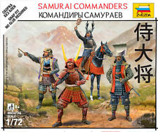 Zvezda Models 1/72 (Snap-Fit) Samurai Commanders (4 Japanese Figures)