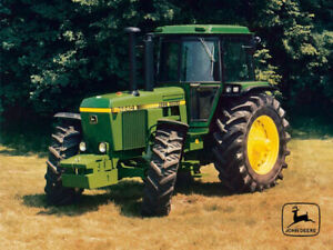 Vintage John Deere 4240s Tractor Poster Brochure Print Art RARE A3