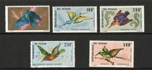 CHAD SG163-167   BIRDS 1966 MNH