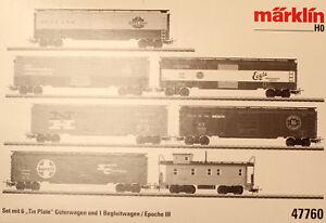"Märklin 47760 H0 Amerikanisches Güterwagen-Set ""Tin Plate"" NEU-OVP"