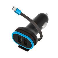 USB KFZ Adapter 5V / 3 A Auto Ladegerät USB-Ports + Typ-C Kabel Huawei P20 Lite