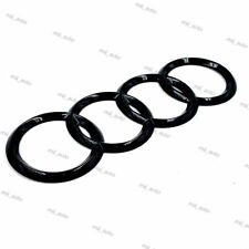 Black Gloss Rear Back Badge Ring Logo Emblem Audi A6 C7 Q3 Q5 Q7 Sticker 215x75