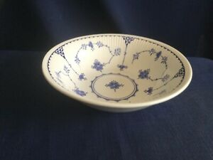 """Furnivals Denmark Blue 6 1/2"""" cereal bowl (some scratches and a small stain )"""